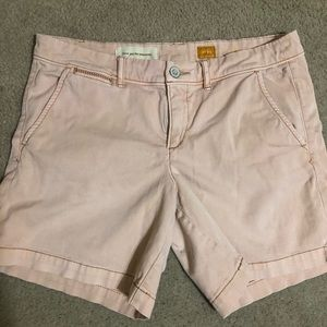 Pilcro blush shorts